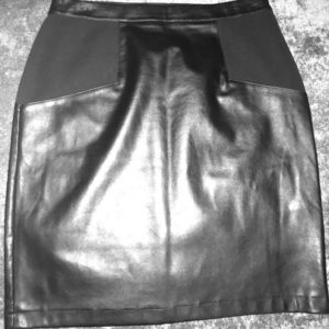 """Chico's """"Size 2"""" (L/Size 12) Leather Skirt"""